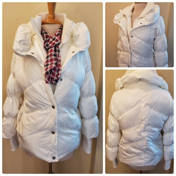 Steve Madden Jackets & Blazers - Steve Madden White Puffer Jacker Coat